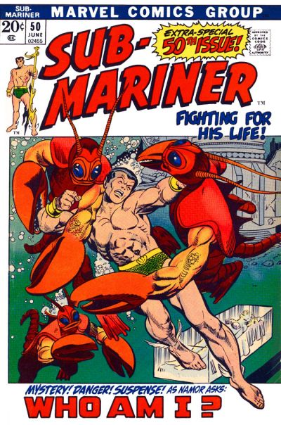 Cover for Sub-Mariner (Marvel, 1968 series) #50 [British price variant.]