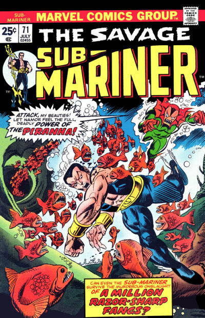 Cover for Sub-Mariner (Marvel, 1968 series) #71
