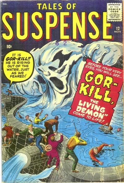Cover for Tales of Suspense (Marvel, 1959 series) #12