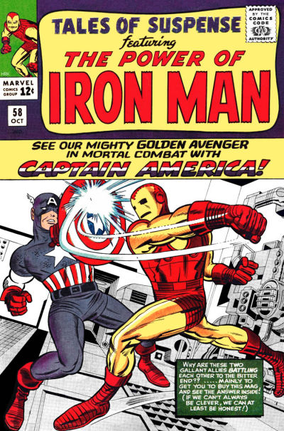 Cover for Tales of Suspense (Marvel, 1959 series) #58