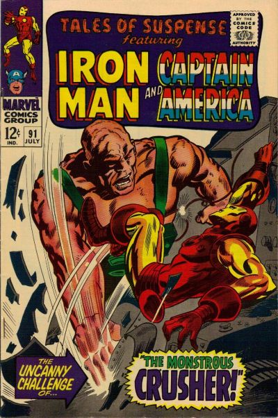 Cover for Tales of Suspense (1959 series) #91
