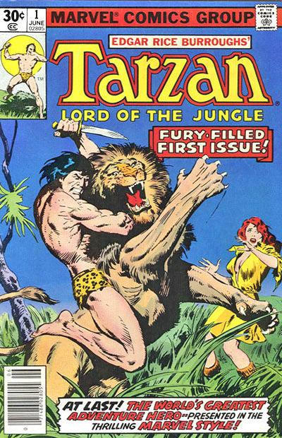 Cover for Tarzan (Marvel, 1977 series) #1 [35 cent cover price variant]