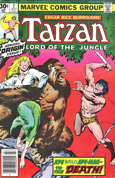 Cover for Tarzan (1977 series) #2 [35 cent cover price variant]