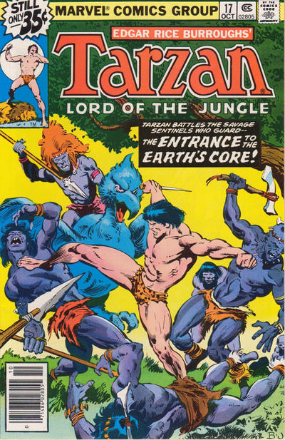 Cover for Tarzan (Marvel, 1977 series) #17 [Newsstand]