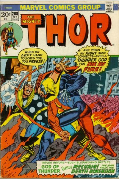 Cover for Thor (Marvel, 1966 series) #208 [Regular Edition]