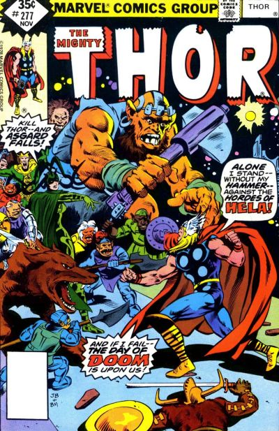 Cover for Thor (Marvel, 1966 series) #277 [Whitman Edition]
