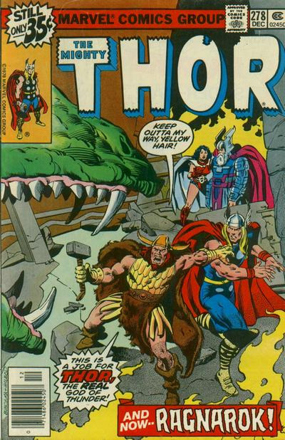Cover for Thor (Marvel, 1966 series) #278