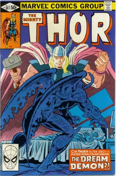 Cover for Thor (1966 series) #307 [Direct]
