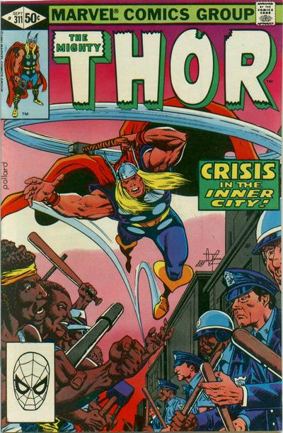 Cover for Thor (Marvel, 1966 series) #311 [Newsstand Edition]