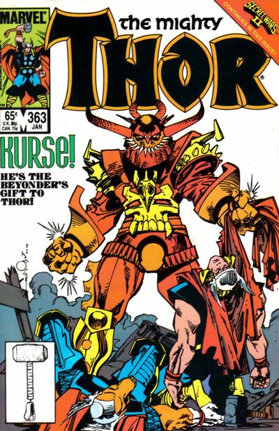 Cover for Thor (Marvel, 1966 series) #363 [Direct Edition]
