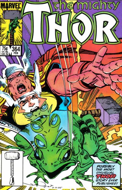 Cover for Thor (Marvel, 1966 series) #364 [Newsstand Edition]