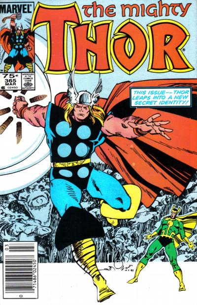 Cover for Thor (Marvel, 1966 series) #365 [Newsstand Edition]