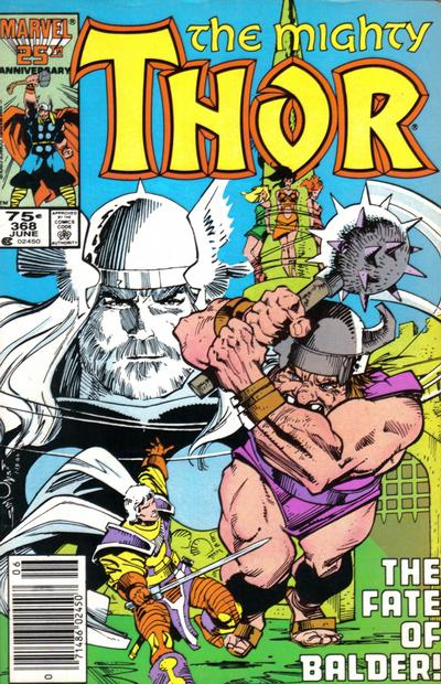 Cover for Thor (1966 series) #368 [Canadian Price Variant]