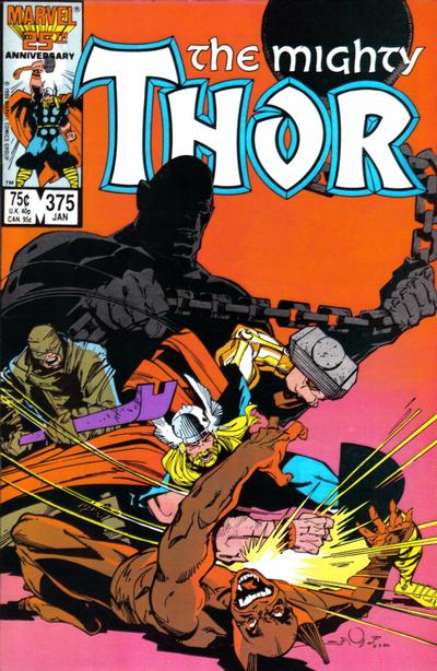 Cover for Thor (Marvel, 1966 series) #375 [Direct Edition]