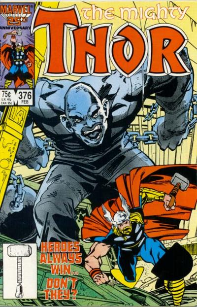 Cover for Thor (1966 series) #376 [Direct]