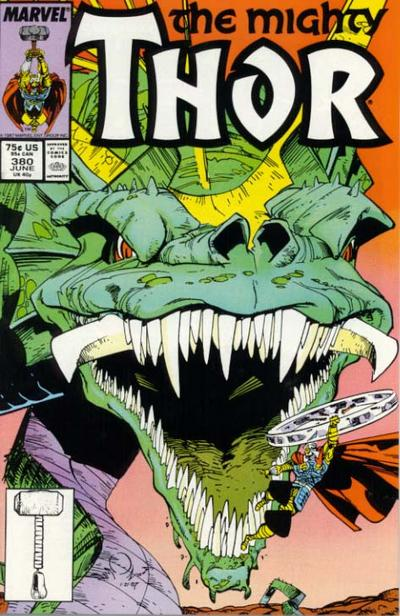 Cover for Thor (1966 series) #380 [Newsstand Edition]