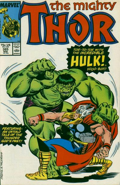 Cover for Thor (Marvel, 1966 series) #385 [Newsstand Edition]
