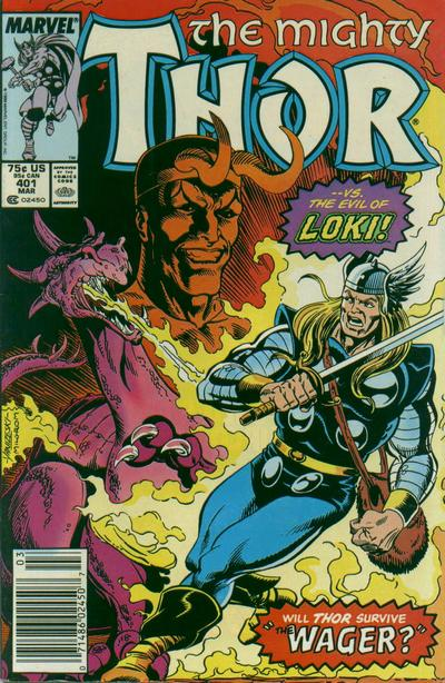 Cover for Thor (Marvel, 1966 series) #401 [Newsstand Edition]