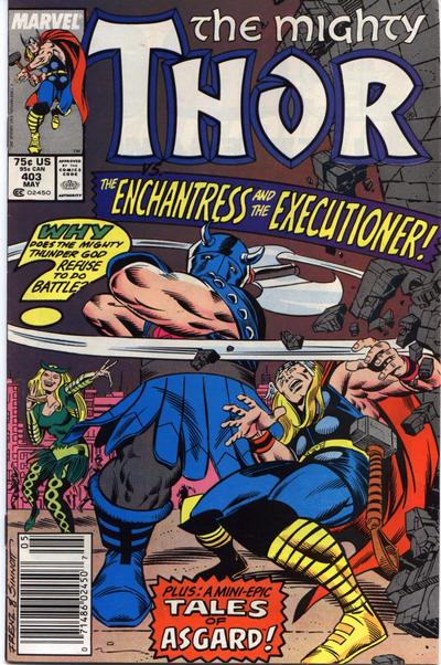 Cover for Thor (Marvel, 1966 series) #403 [Direct Edition]