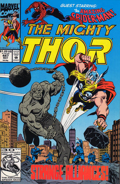 Cover for Thor (Marvel, 1966 series) #447 [Direct Edition]