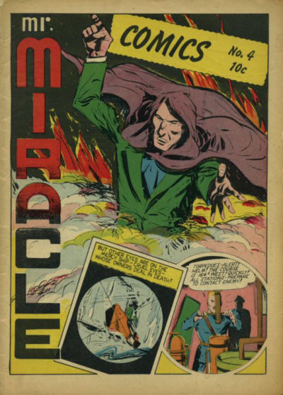 Cover for Mr. Miracle Comics (Holyoke, 1944 series) #4