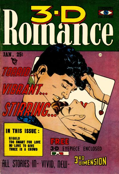 Cover for 3-D Romance (Mikeross Publications, 1954 series) #1