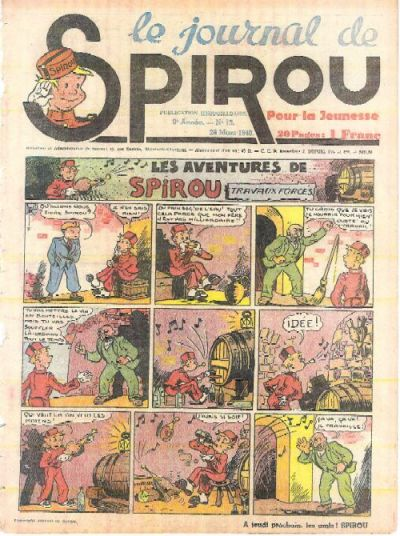 Cover for Le Journal de Spirou (Dupuis, 1938 series) #13/1940