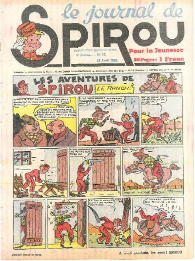 Cover for Le Journal de Spirou (Dupuis, 1938 series) #16/1940