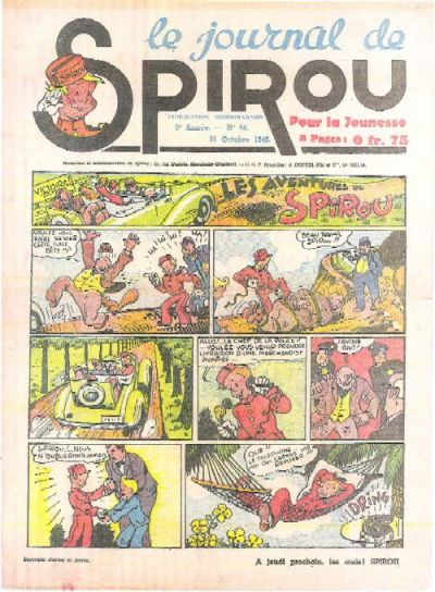 Cover for Le Journal de Spirou (Dupuis, 1938 series) #44/1940