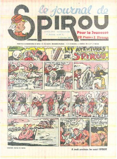 Cover for Le Journal de Spirou (Dupuis, 1938 series) #2/1941