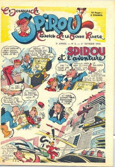 Cover for Le Journal de Spirou (Dupuis, 1938 series) #5/1945