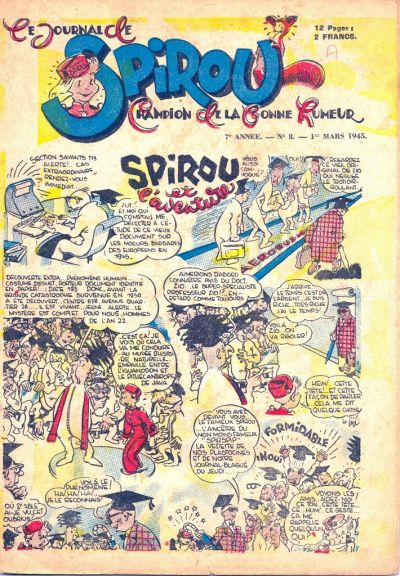 Cover for Le Journal de Spirou (Dupuis, 1938 series) #8/1945