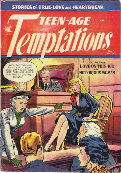 Cover for Teen-Age Temptations (St. John, 1952 series) #5