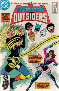 Cover for Batman and the Outsiders (DC, 1983 series) #20 [Newsstand]