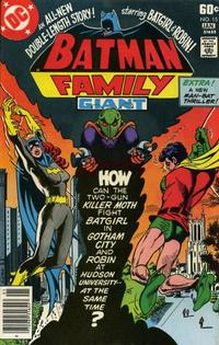 Cover for Batman Family (DC, 1975 series) #15