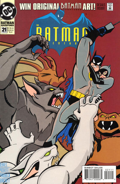 Cover for The Batman Adventures (DC, 1992 series) #21 [Direct Sales]