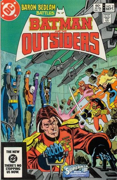 Cover for Batman and the Outsiders (1983 series) #2 [Newsstand]