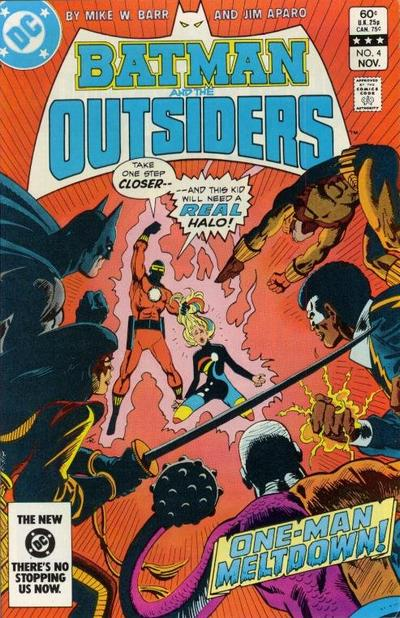 Cover for Batman and the Outsiders (1983 series) #4 [Newsstand]