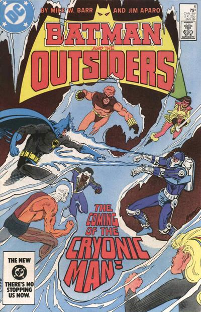 Cover for Batman and the Outsiders (1983 series) #6 [Newsstand]
