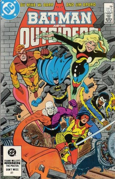 Cover for Batman and the Outsiders (1983 series) #7 [Direct]