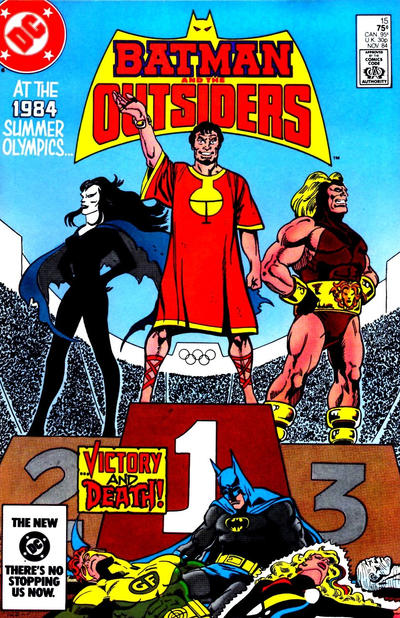 Cover for Batman and the Outsiders (1983 series) #15 [Newsstand]