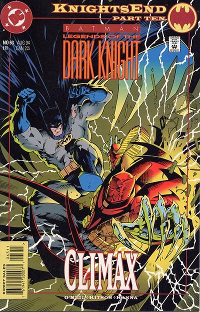 Cover for Batman: Legends of the Dark Knight (DC, 1992 series) #63