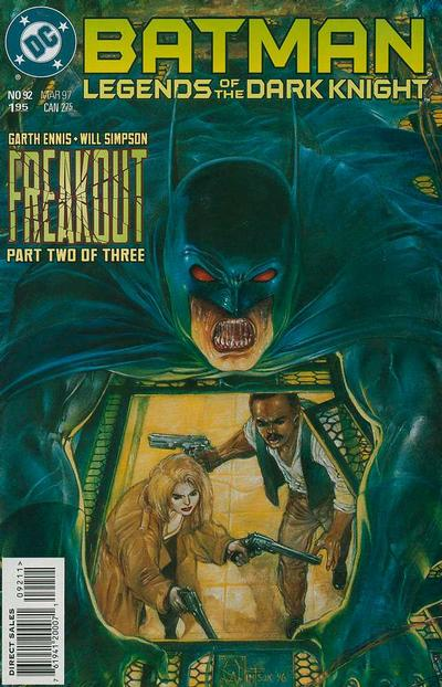 Cover for Batman: Legends of the Dark Knight (DC, 1992 series) #92