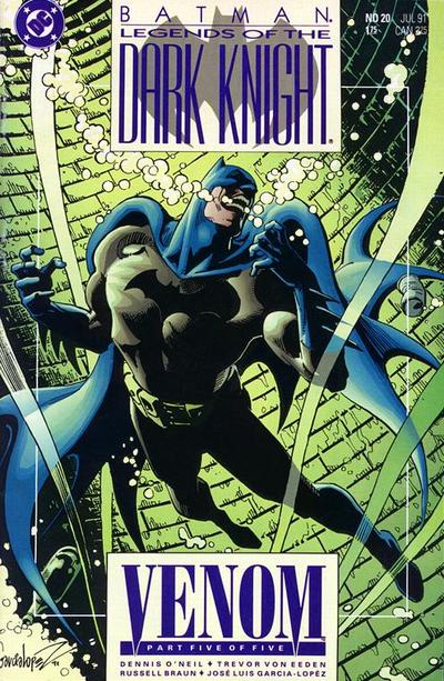 Cover for Legends of the Dark Knight (DC, 1989 series) #20