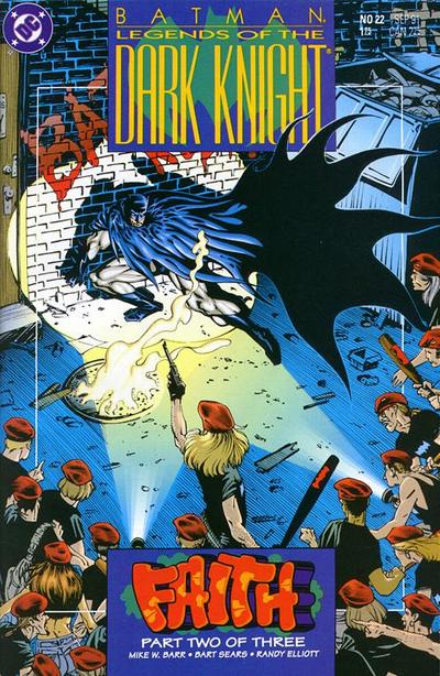 Cover for Legends of the Dark Knight (DC, 1989 series) #22
