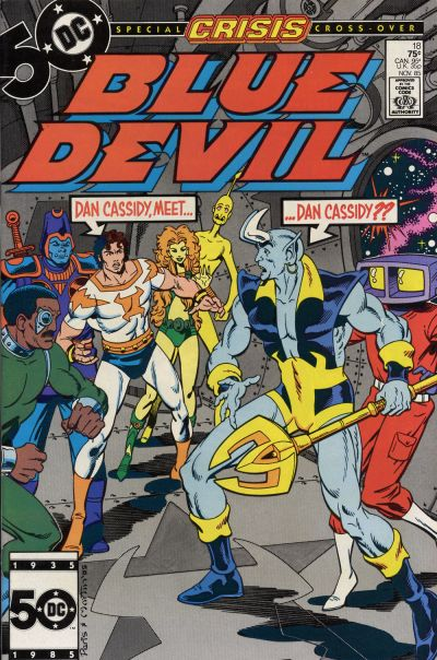 Cover for Blue Devil (DC, 1984 series) #18 [Direct]