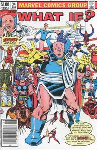 Cover Thumbnail for What If? (Marvel, 1977 series) #34 [Newsstand Edition]