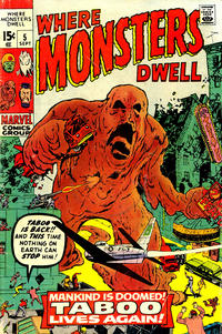 Cover Thumbnail for Where Monsters Dwell (Marvel, 1970 series) #5