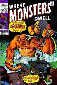 Cover Thumbnail for Where Monsters Dwell (Marvel, 1970 series) #10