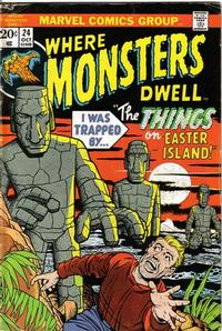 Cover Thumbnail for Where Monsters Dwell (Marvel, 1970 series) #24